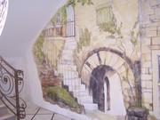 Роспись стен, потолков; нанесение декоративного покрытия