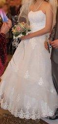 Свадебное платье белоснежное